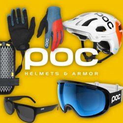 POC helmy, chrániče, brýle, ...