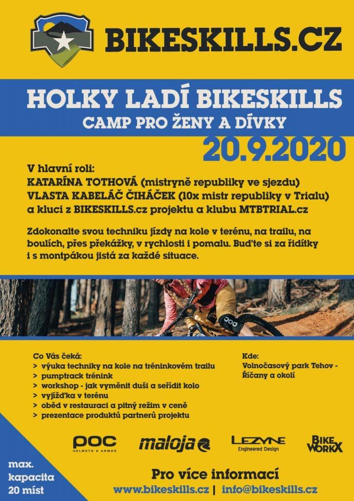 Holky ladí Bikeskills poster